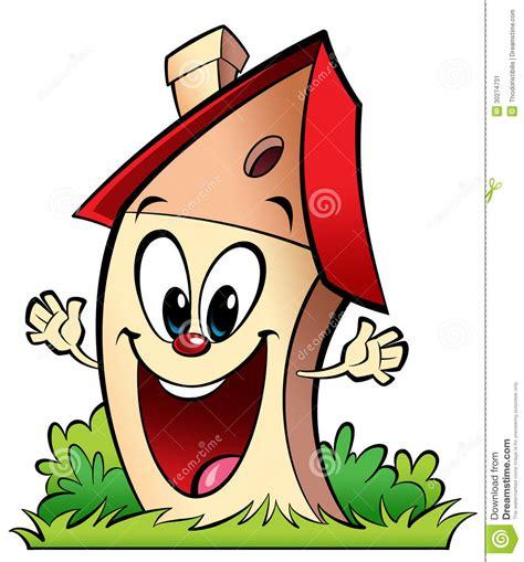happy cartoon home stock image image