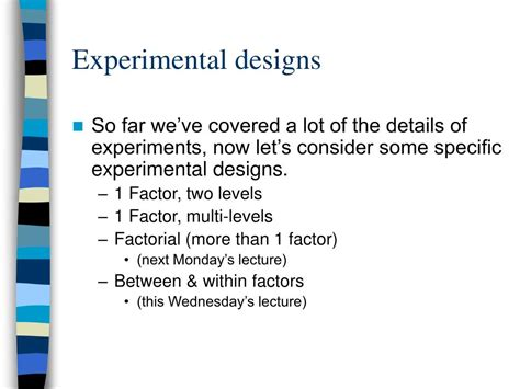 design of experiment single factor ppt experimental design single factor designs