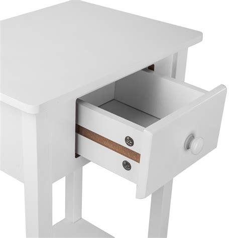 Stool As Bedside Table by New White High Stool Bedside With Drawer Wooden Cabinet Table Nightstand Storage Ebay