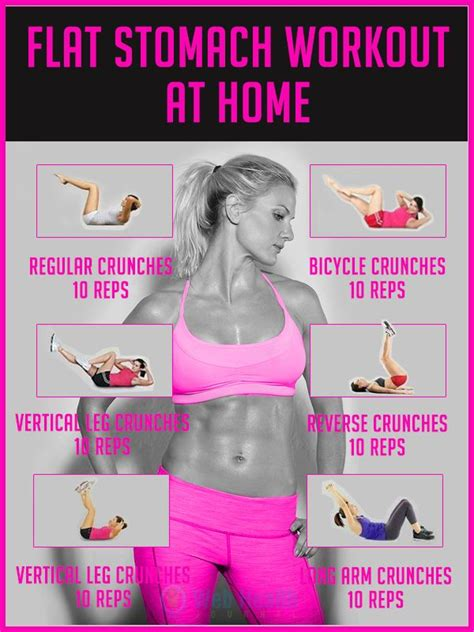 25 best ideas about stomach workouts on flat