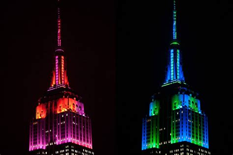 empire state color empire state building tower lighting replacement the