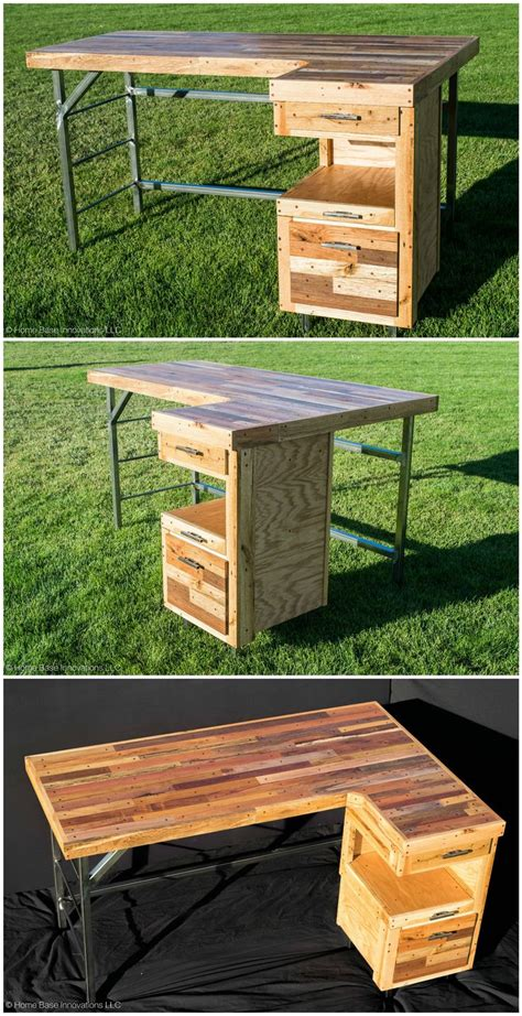 pin by mariam ovsepyan on pallet projects pinterest industrial palletdesk reclaimedpallet recycled