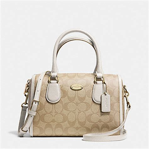 Coach Mini Signature Chalk 1 coach f34084 mini satchel in signature canvas light gold light khaki chalk coach