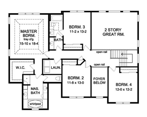 house plan 45 8 62 4 colonial style house plan 4 beds 2 5 baths 2964 sq ft