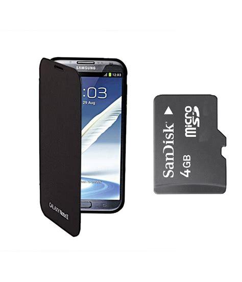 Memory Card 4gb Samsung koloredge flip cover sandisk 4gb memory card for samsung galaxy note 2 n7100 black buy