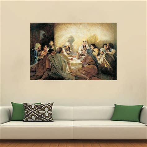 Diy Painting The Last Supper 2 lf516jy93 custom the last supper canvas painting wall silk