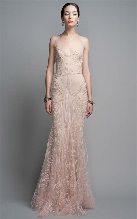 Evening Dressers by Zac Posen Evening Gown In Pink Blush Lyst