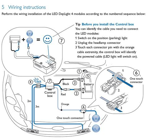 daytime running light wiring diagram circuit and