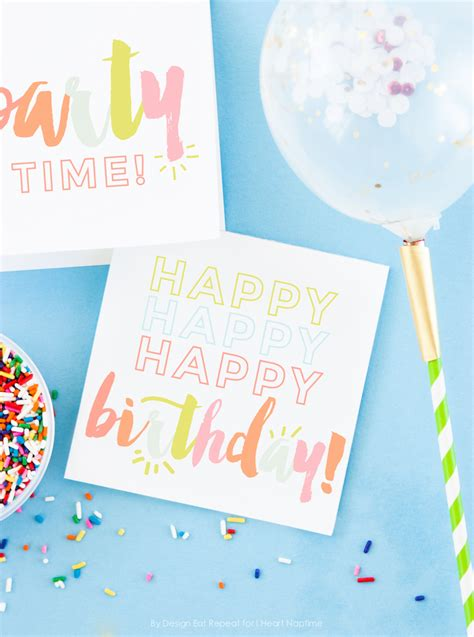 Birthday Place Cards Printable Free Printable Birthday Cards I Heart Nap Time
