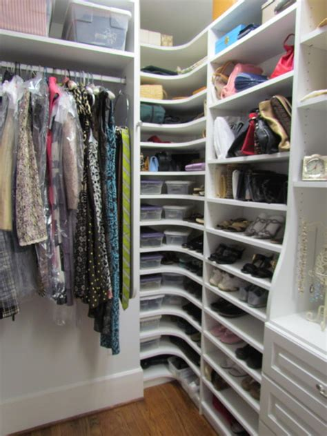 atlanta closet corner shoe shelves  traditional
