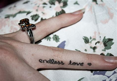 endless love tattoo on finger 30 cool side finger tattoos ideas