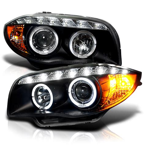 Bmw 1 Series E87 Headlights by 2008 2013 Bmw 1 Series E87 Dual Halo Led Projector