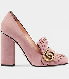 Jual Heels Gucci Suede Mid Heel Slide 3 Cm Heel Mirror Quality 11 Ori 2 gucci suede mid heel slide 12 110 mxn liked on polyvore featuring shoes sandals green