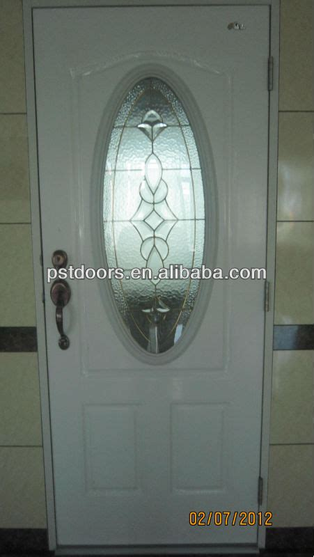 Oval Glass Insert For Front Door by Decorative Glass Steel Door Pre Hung Steel Door With Big