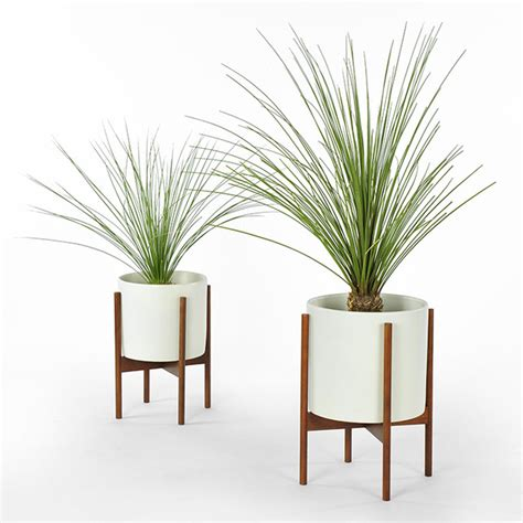 Indoor Planters Pots by Modernica Study Planter With Stand White Modern
