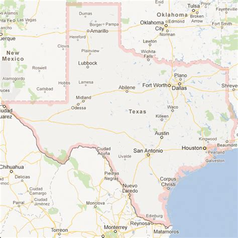 texas map major cities texas map of cities my
