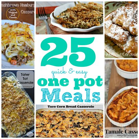 25 quick and easy one pot meals