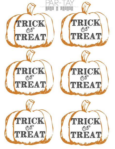 Pumpkin Tags Free Printable Party Like A Cherry Treat Label Template