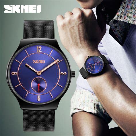 Skmei Jam Tangan Kasual Pria skmei jam tangan kasual pria stainless steel 9163
