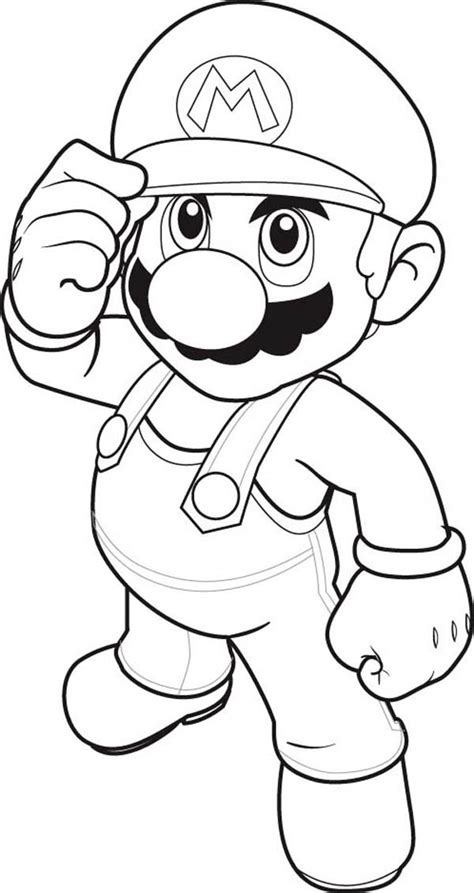 Mario Drawing Pages