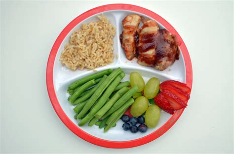 Meal Plate guide to toddler portion sizes healthy ideas for
