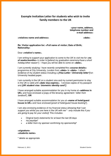 Visa Sponsorship Letter Template 4 How To Write Sponsor Letter For Visa Emt Resume