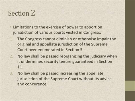 article 1 section 9 clause 4 article viii judicial department sections 1 to 8