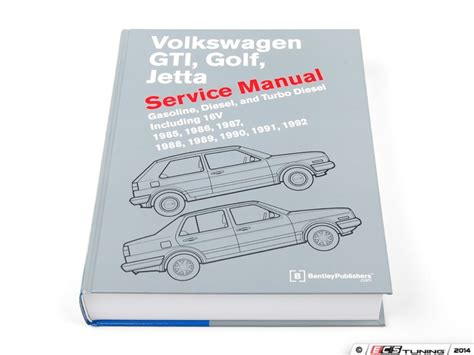 automotive repair manual 1991 volkswagen gti user handbook bentley vg92 vw mkii gti golf jetta 85 92 service manual