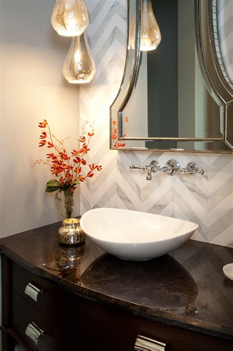 designer decor htons inspired luxury powder room robeson design san
