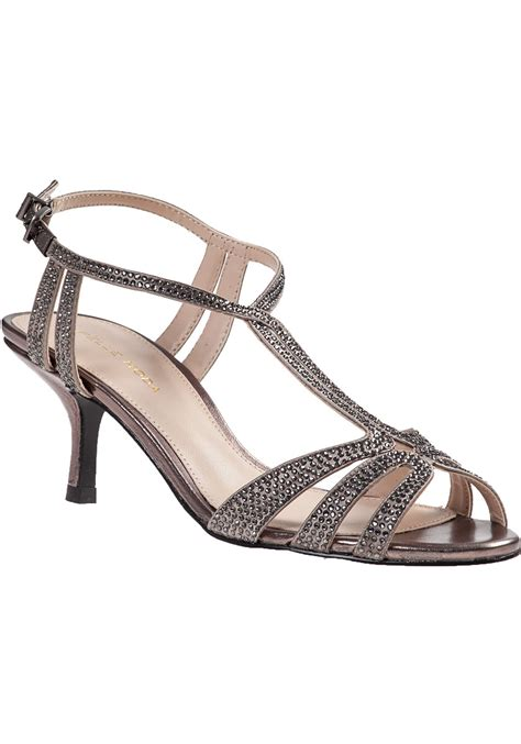 pewter color sandals lyst pelle moda anisa evening sandal pewter fabric in