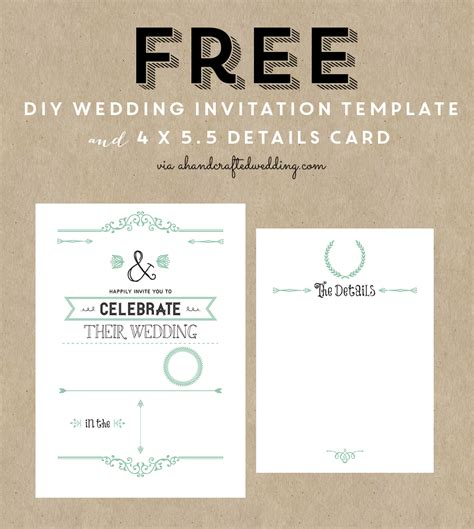 free printable wedding invitation template free wedding