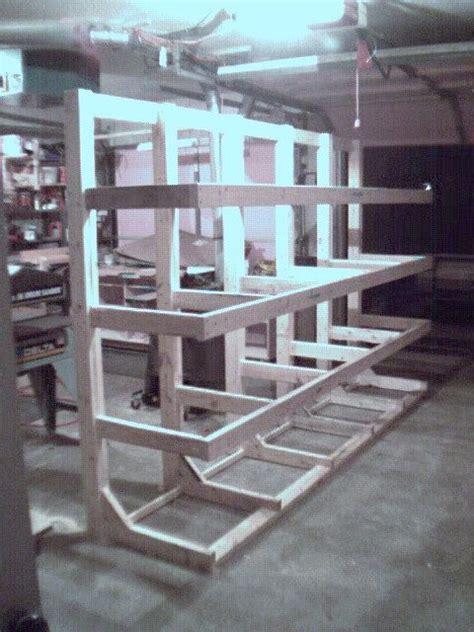 lumber rack freestanding  hold  store long lengths