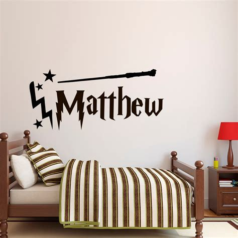 wall stickers boy personalized name wall decal boy name wall decal harry