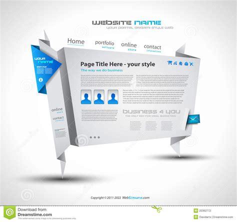Origami Website - origami website design for business stock