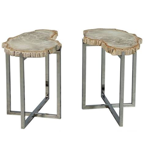 accent tables for sale pair of petrified wood accent tables for sale at 1stdibs