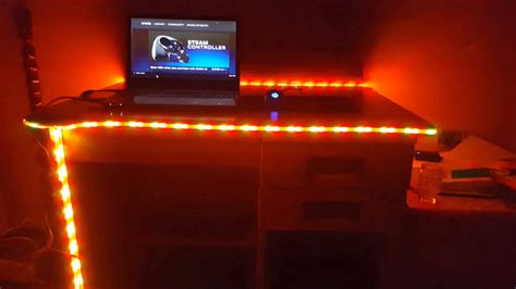 gaming desk led lights amazoncom talking tables gold led table lights gold