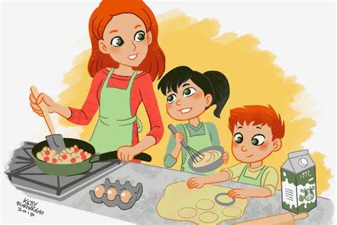 cucinare con bambini in cucina con la mamma roma per bambini
