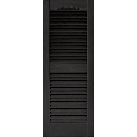 pinecroft 15 in x 59 in louvered shutters pair builders edge 15 in x 39 in louvered vinyl exterior