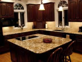 kitchen counter lighting close to what ours would look like looks good stone subway tile backsplash cherry cabinets