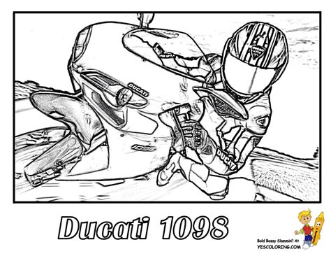 ducati motorcycle coloring pages pin ducati 1098 motorcycle coloring pages for boys at