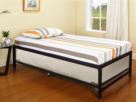 Metal Daybed With Trundle Black Metal Size Day Bed Daybed Frame With Roll Out Trundle New Ebay