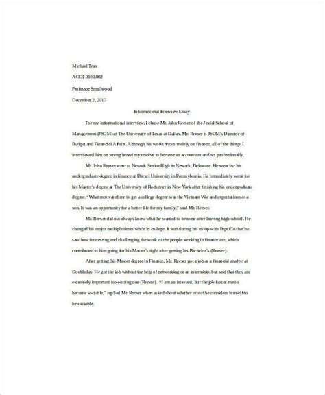 Essays Introduction Exles by 6 Self Introduction Essay Exles Sles Pdf Doc