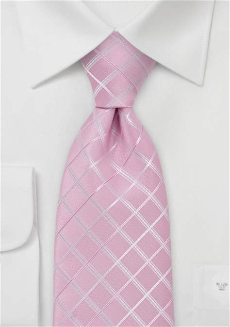 light pink tie with check pattern bows n ties