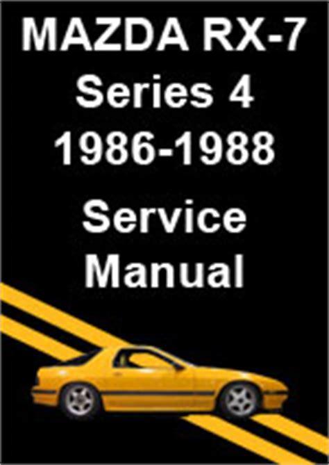 free download parts manuals 1988 mazda rx 7 windshield wipe control mazda rx7 series 4 1986 1988 workshop repair manual