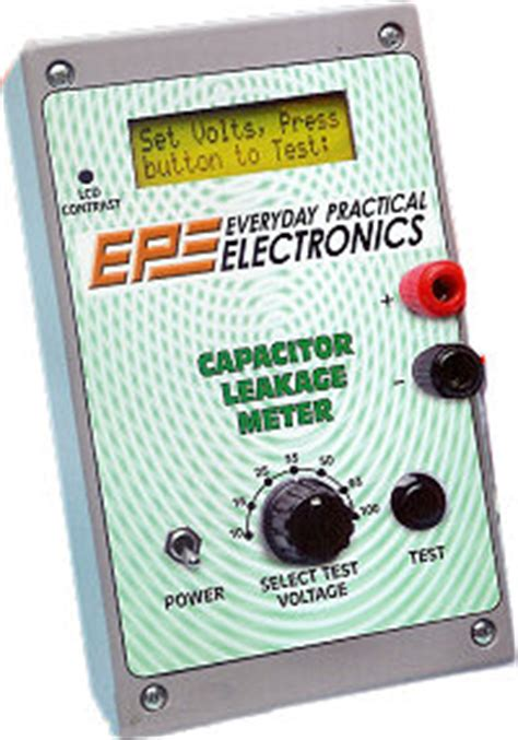 capacitor leakage meter epe magazine november 2011