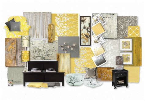 domestic decor yellow and gray