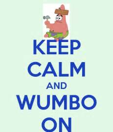 Personalised Wall Stickers keep calm and wumbo on keep calm and carry on image