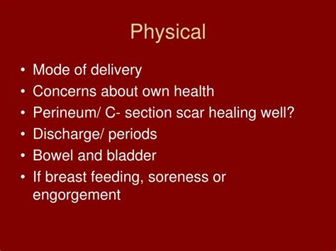 bladder problems after c section ppt postpartum complications powerpoint presentation