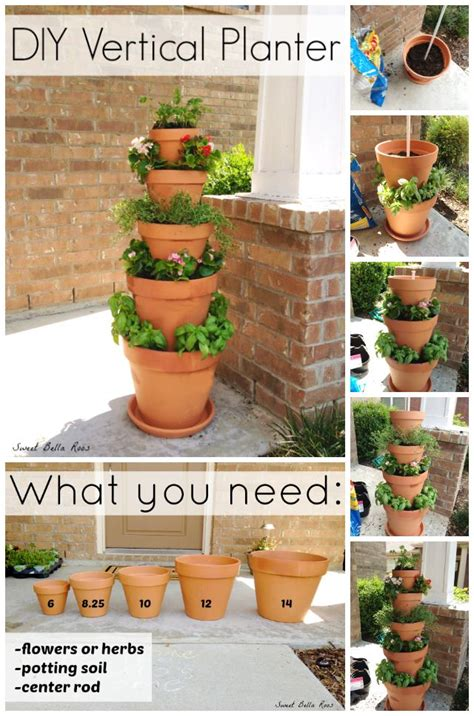 Diy Vertical Planter Herb Or Flower Garden Gardens Diy Vertical Planter