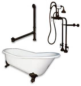 shop houzz cambridge cast iron slipper clawfoot tub 67